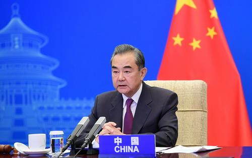 CS DU 7 MAI 21 PH 2 Wang Yi préside une conférence de haut niveau du Conseil de Sécurité des Nations Unies du 7 Mai 2021