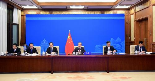 CS DU 7 MAI 21 PH 4 Wang Yi préside une conférence de haut niveau du Conseil de Sécurité des Nations Unies du 7 Mai 2021