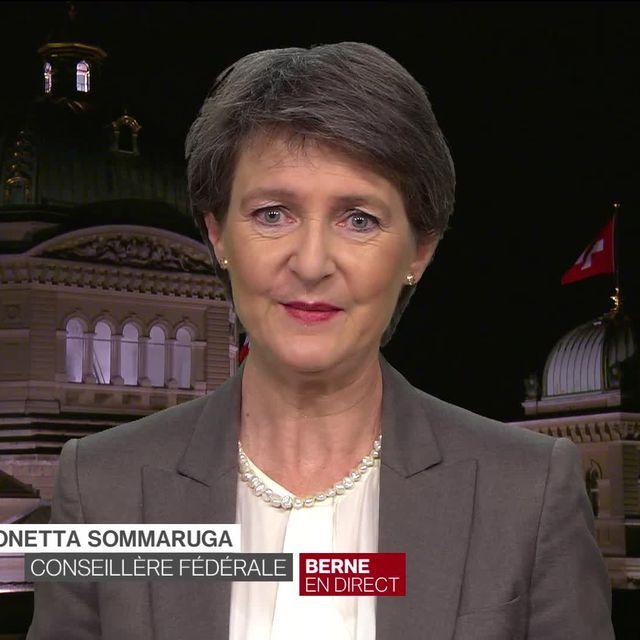 la conseillère fédérale Simonetta Sommaruga SUISSE 2