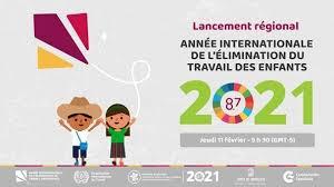 l'Année internationale pour l'élimination du travail des enfants par l'Assemblée générale des Nations Unies