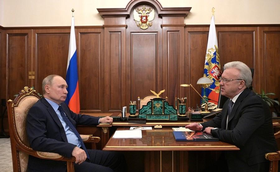 Réunion de travail PH 1 -- 4 avec le gouverneur du territoire de Krasnoïarsk Alexander Uss - 11 mai 2021 - 13h30