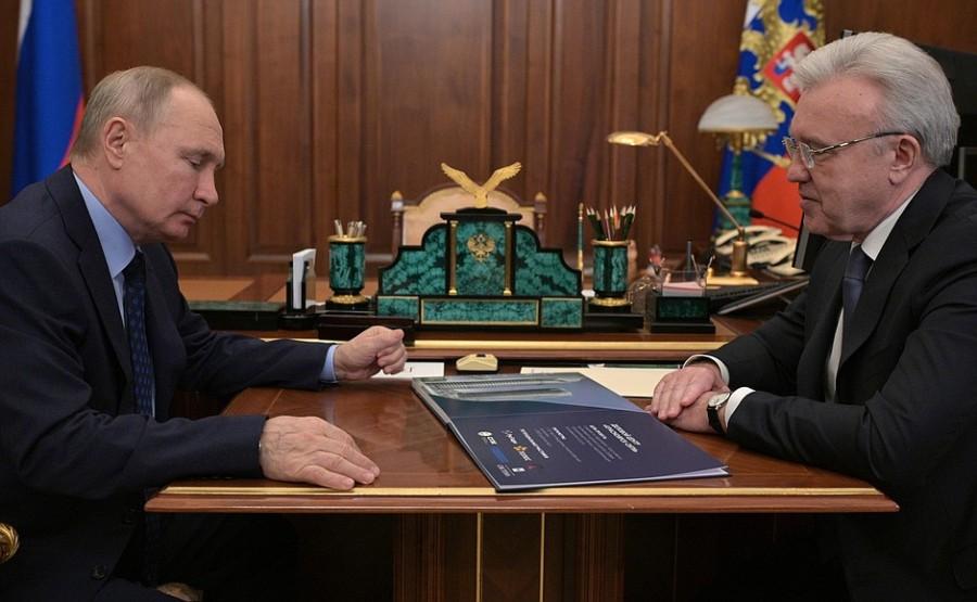 Réunion de travail PH 4 -- 4 avec le gouverneur du territoire de Krasnoïarsk Alexander Uss - 11 mai 2021 - 13h30