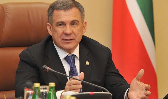 Rustam-Minnikhanov-tartarsan Le chef de la République du Tatarstan, Rustam Minnikhanov
