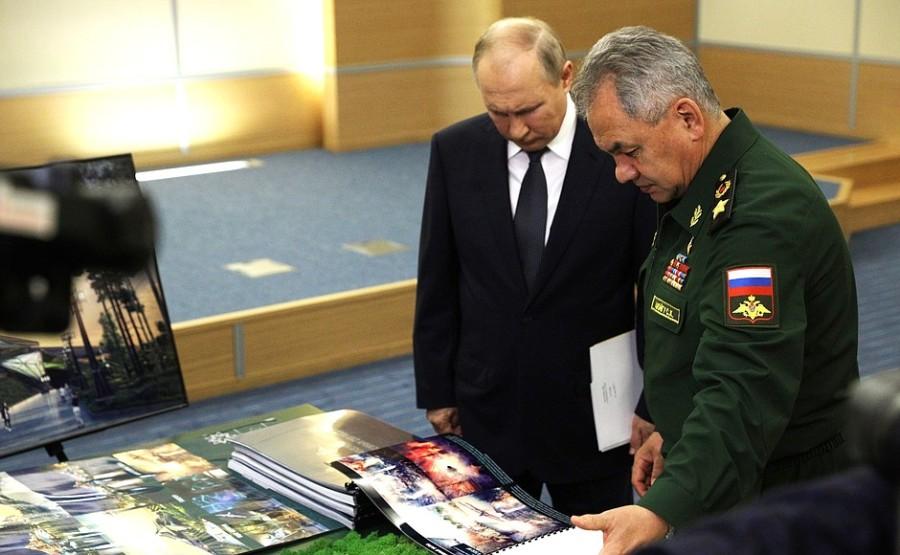 SHOIGU POUTINE 1 SUR 5 Rencontre avec le ministre de la Défense Sergei Shoigu - 27 mai 2021 -17h00 à Sochi