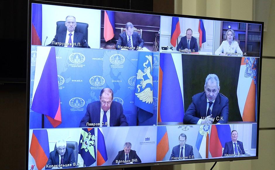 SOCHI 2 XX 3 Réunion avec les membres permanents du Conseil de sécurité - 28 mai 2021 – 16h25 - Sochi