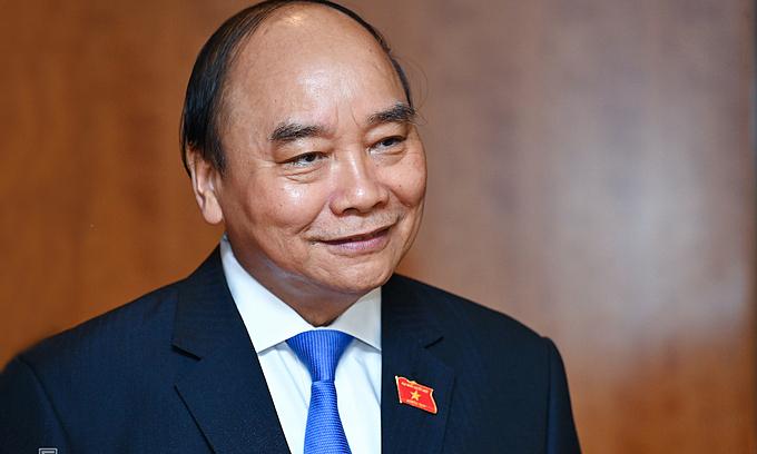 Vietnam's new state president Nguyen Xuan Phuc. Photo by VnExpress Giang Huy. é