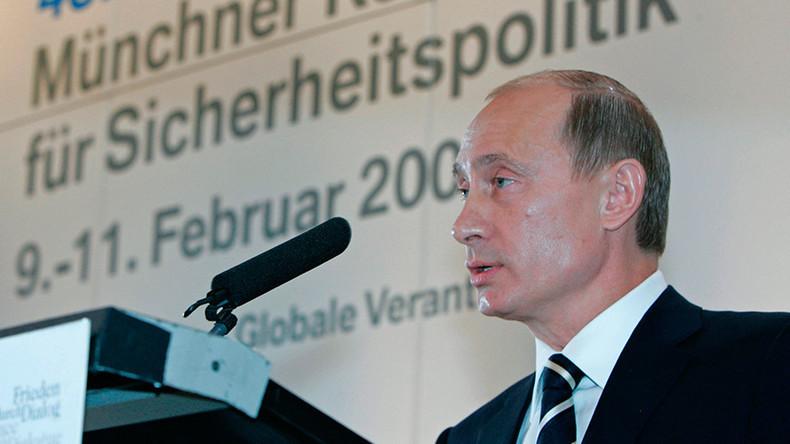 Vladimir Poutine prononcé le 10 février 2007 à la Conférence de Munich sur la sécurité 4