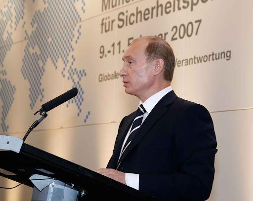 Vladimir Poutine prononcé le 10 février 2007 à la Conférence de Munich sur la sécurité
