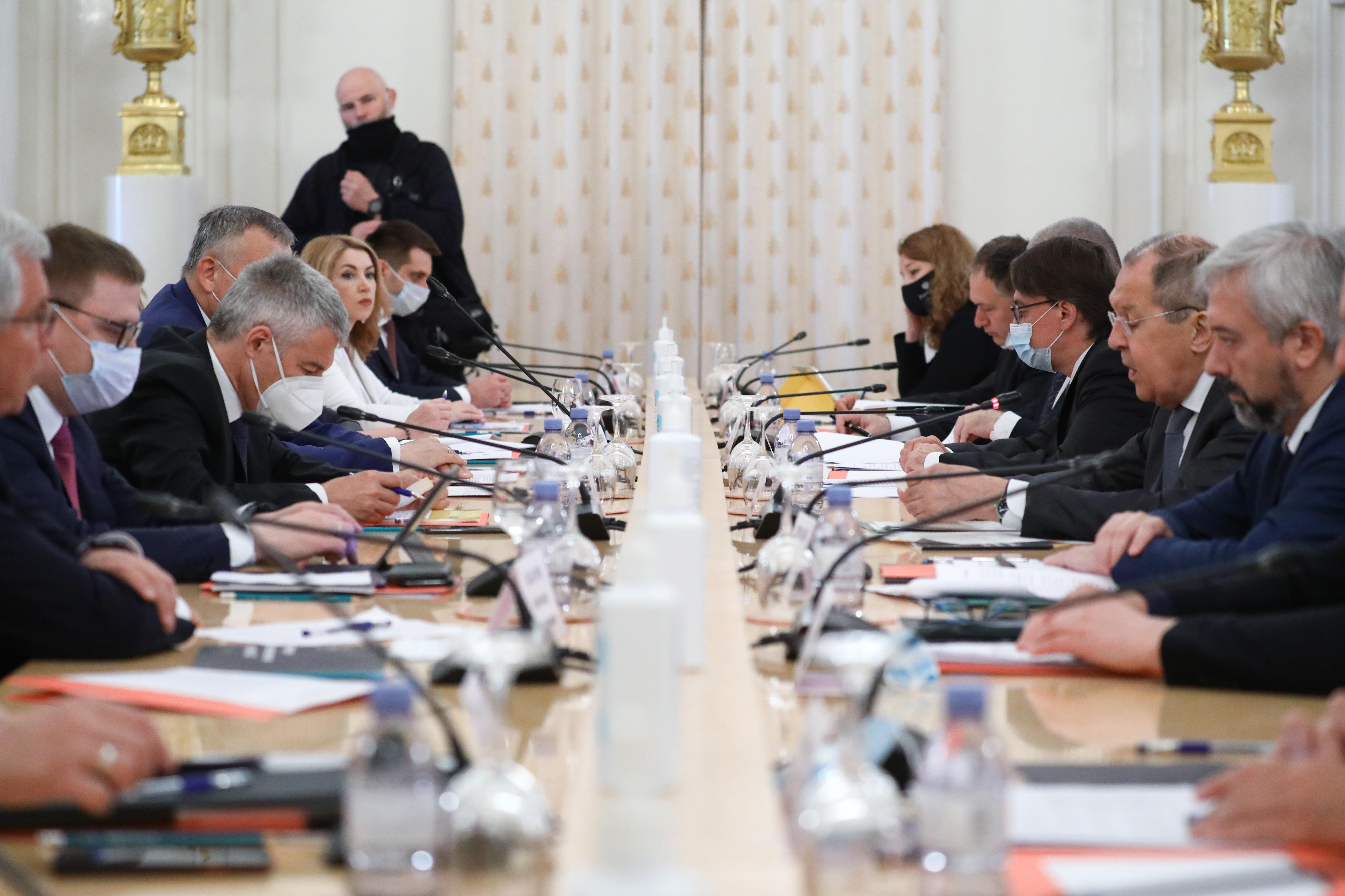 36e réunion du Conseil des chefs des entités constitutives du ministère des Affaires étrangères de la Fédération de Russie, Moscou, 15 juin 2021