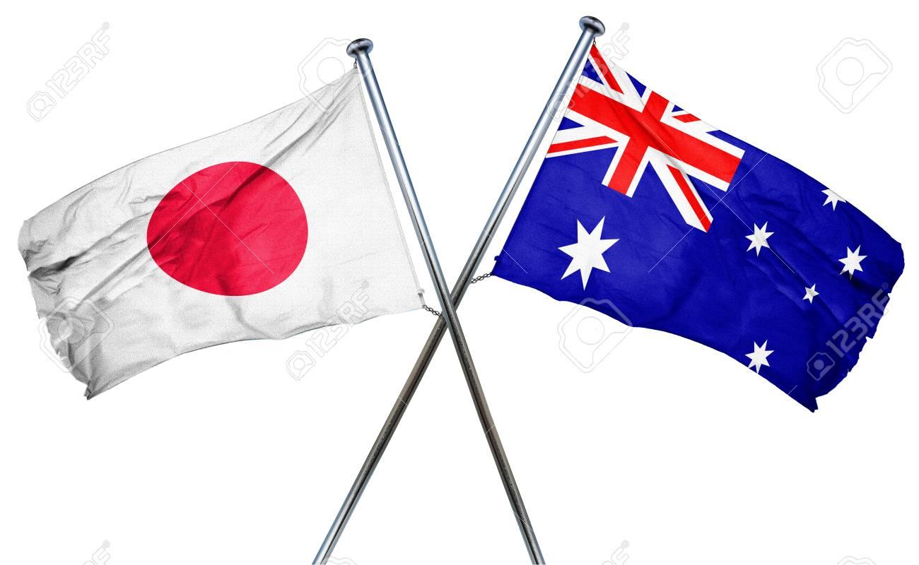 Japan flag  combined with australian flag