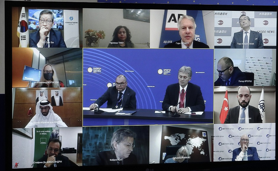 AG TASS 2 X 9 DU 04.06.2021 Rencontre avec des responsables d'agences de presse internationales - 4 juin 2021 – 23h00 – Saint-Pétersbourg