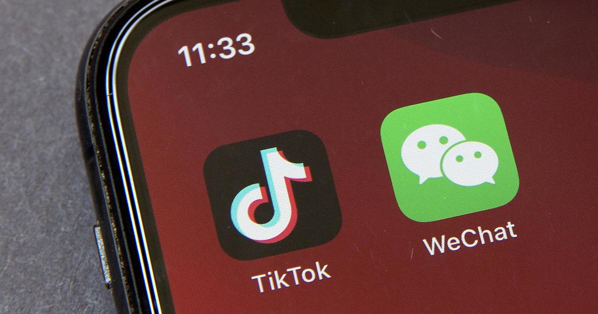 applications chinoises TikTok et WeChat
