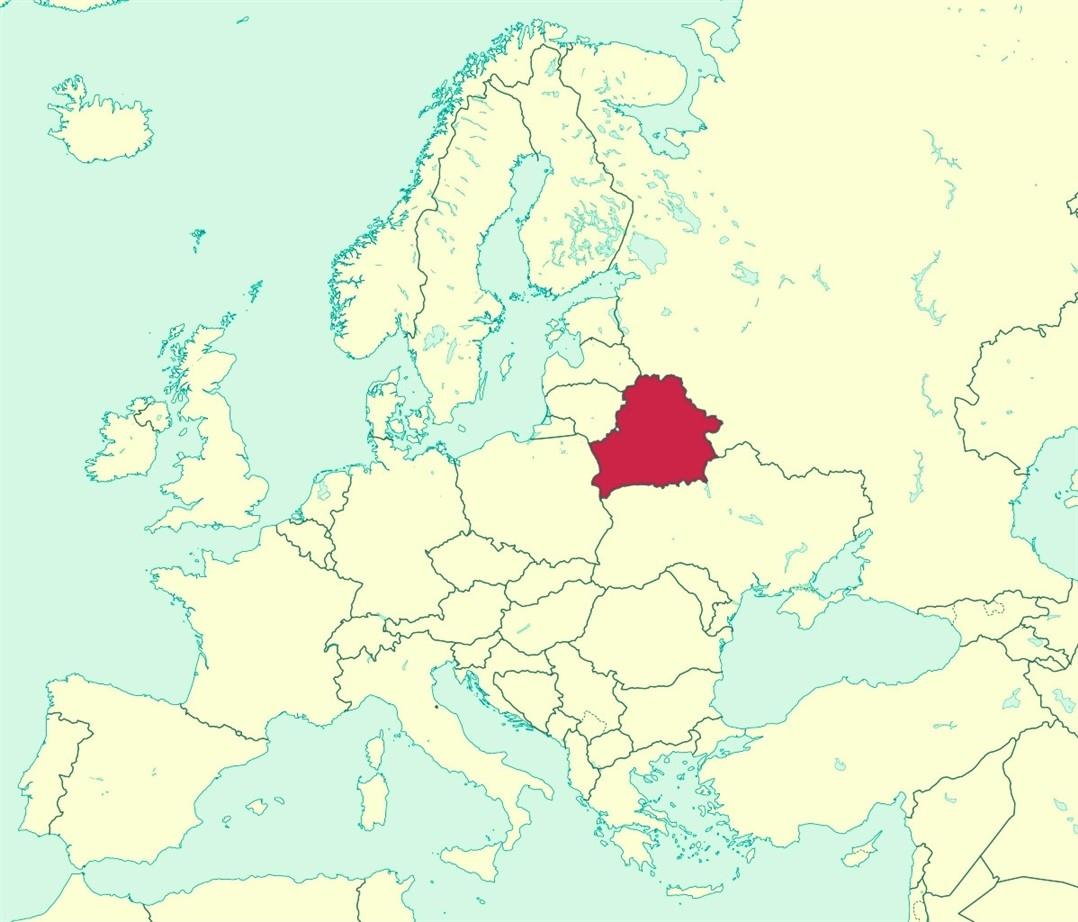 carte biélorussie europe