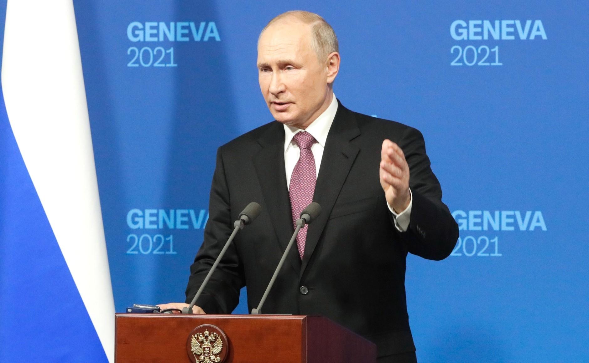 Conférence de presse à l'issue des pourparlers russo-américains. Photo TASS 2