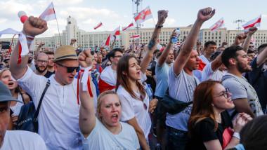 Des manifestants à Minsk