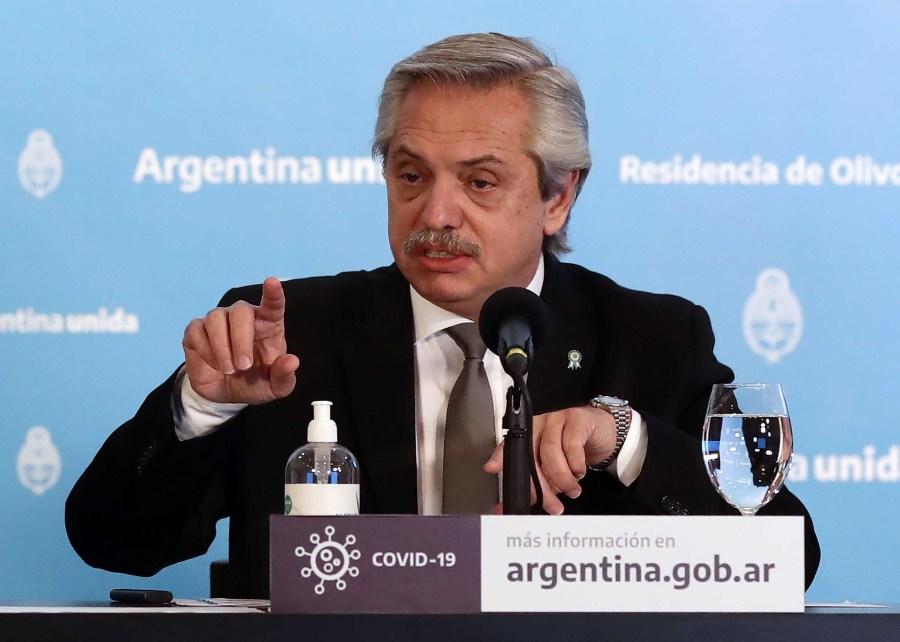 ARGENTINA-HEALTH-VIRUS-FERNANDEZ