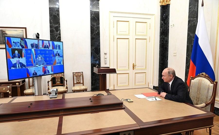 Kremlin - 1 SUR 1 DU 25.06.2021 Rencontre avec les membres permanents du Conseil de sécurité - 25 juin 2021 – 14h30