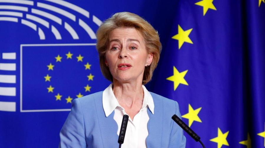 La présidente de la Commission européenne, Ursula Von der Leyen,