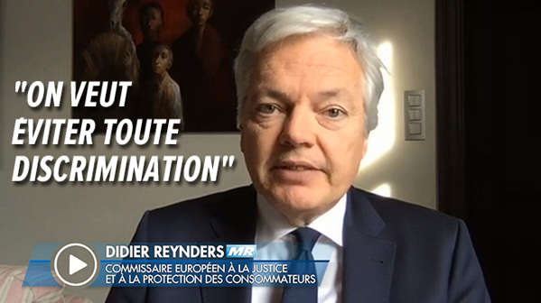 Le commissaire européen Didier Reynders
