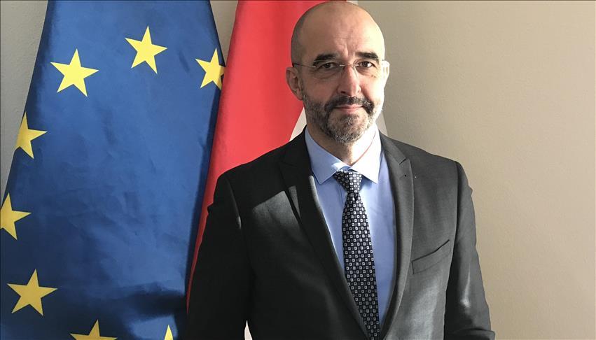 Le porte-parole du gouvernement hongrois, Zoltán Kovács,
