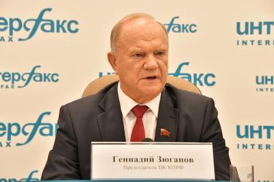 président du Parti communiste de la Fédération de Russie Guennadi Andreyevich Zyuganov