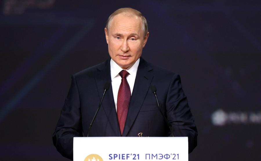 SP RUSSIE 3 X 15 DU 04.06.2021 Séance plénière du Forum économique international de Saint-Pétersbourg - 4 juin 2021 - 17h20