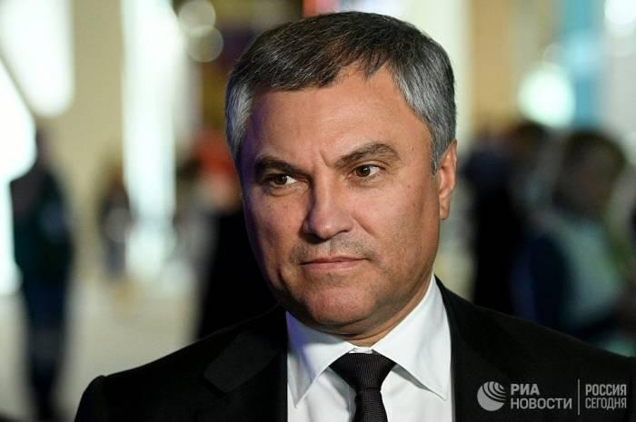 15214-1529918868 Viatcheslav Volodine, président de la Douma d'Etat de Russie,