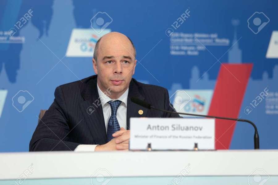 30053440-moscou-russie-feb-16-anton-siluanov-le-ministre-des-finances-de-la-fédération-de-russie-à-une-confér ministre des Finances Anton Siluanov