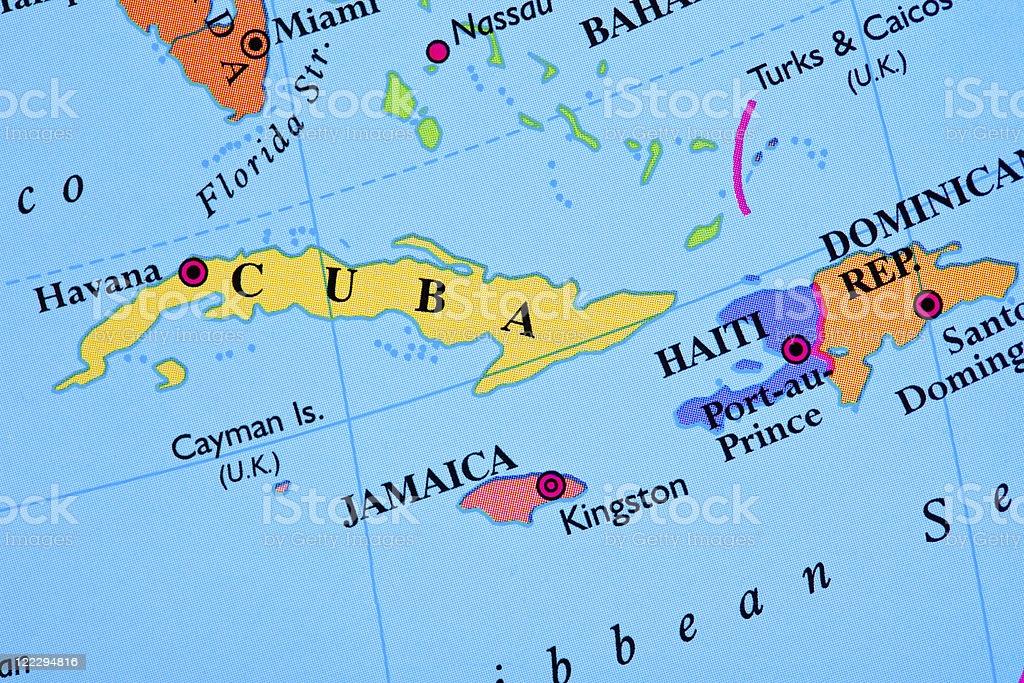 "Haiti map. Source: ""World reference atlas"""