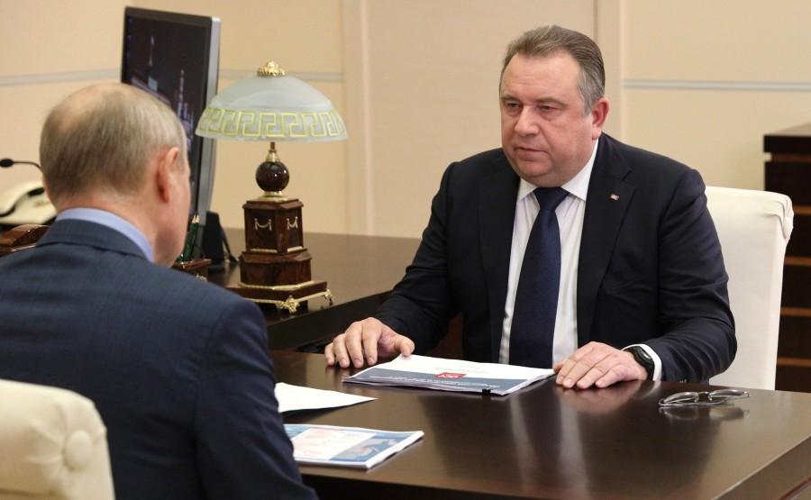 Kremlin - 3 XX 3 DU 22.07.2021 Rencontre avec le PDG de United Shipbuilding Corporation Alexei Rakhmanov - 22 juillet 2021