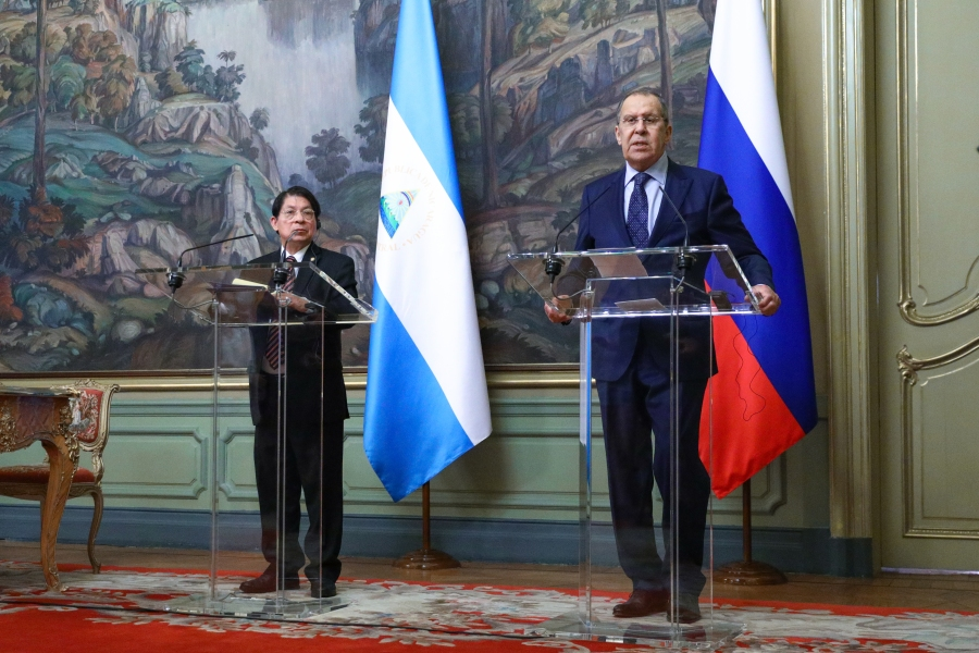 le ministre des Affaires étrangères de la République du Nicaragua Denis Ronaldo Moncada Colindres, Moscou, 19 juillet 2021