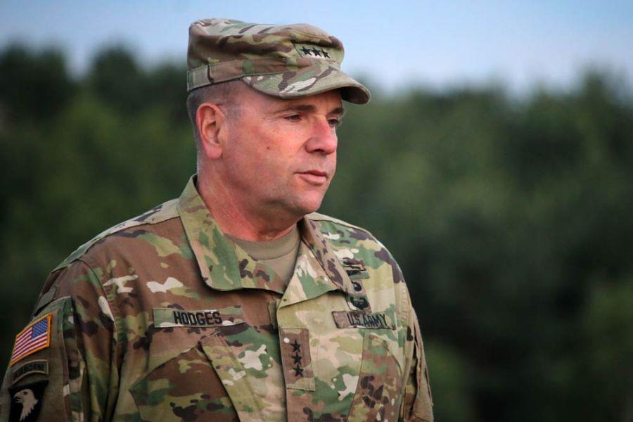 OTAN USA Le lieutenant-général américain Ben Hodges, commandant de l'US Army en Europe,