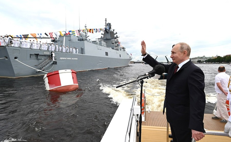RUSSIE 19 XX 47 Parade navale principale - 25 juillet 2021 - 12H10