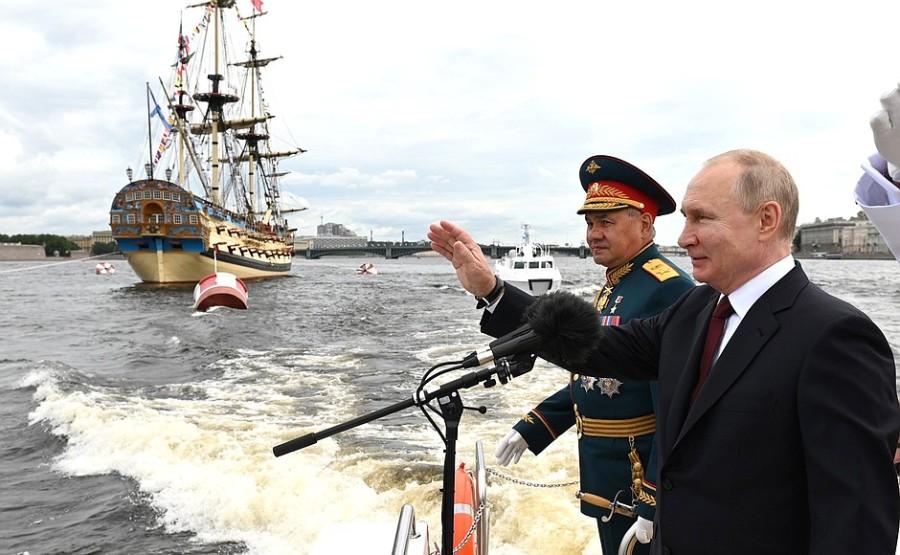 RUSSIE 21 XX 47 Parade navale principale - 25 juillet 2021 - 12H10