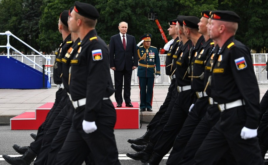 RUSSIE 38 XX 47 Parade navale principale - 25 juillet 2021 - 12H10