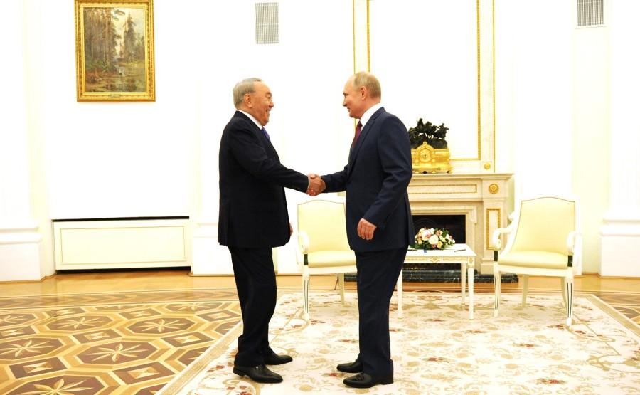 Vladimir Poutine 30.06.2021 PH 1 XX 4 a rencontré le premier président du Kazakhstan, Nursultan Nazarbayev, qui est en visite de travail en Russie
